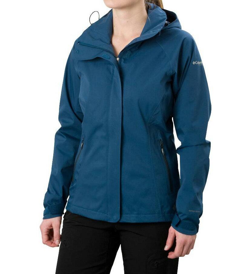 美國百分百【全新真品】Columbia 外套 夾克 連帽外套 哥倫比亞 綠 防水 防風 快乾 透氣 女 XS S M