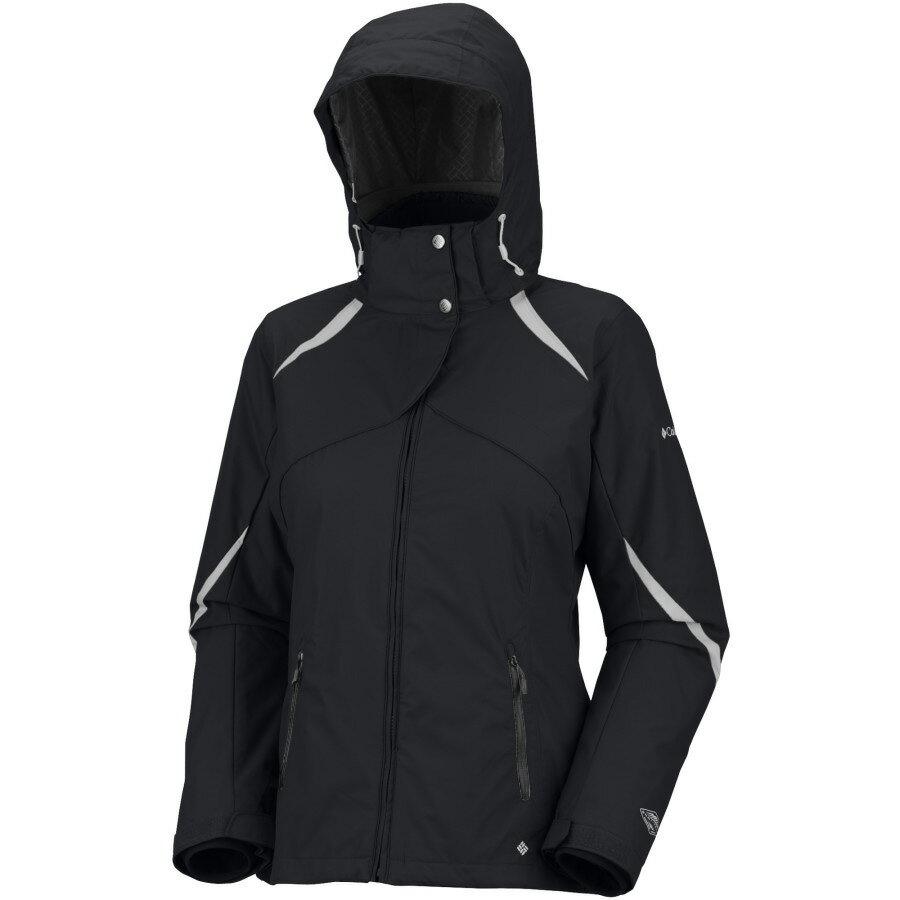 美國百分百【全新真品】Columbia 外套 夾克 連帽外套 哥倫比亞 黑 兩件式 刷毛 防水 透氣 女 XS