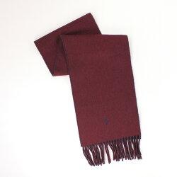 美國百分百【全新真品 】Ralph Lauren 圍巾 RL 配件 披巾 Polo 小馬 紅藍 羊毛 雙面 保暖 男 女