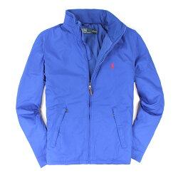美國百分百【全新真品】Ralph Lauren 外套 RL 連帽 夾克 上衣 Polo 小馬 寶藍 皮革 鋪棉 男 S M