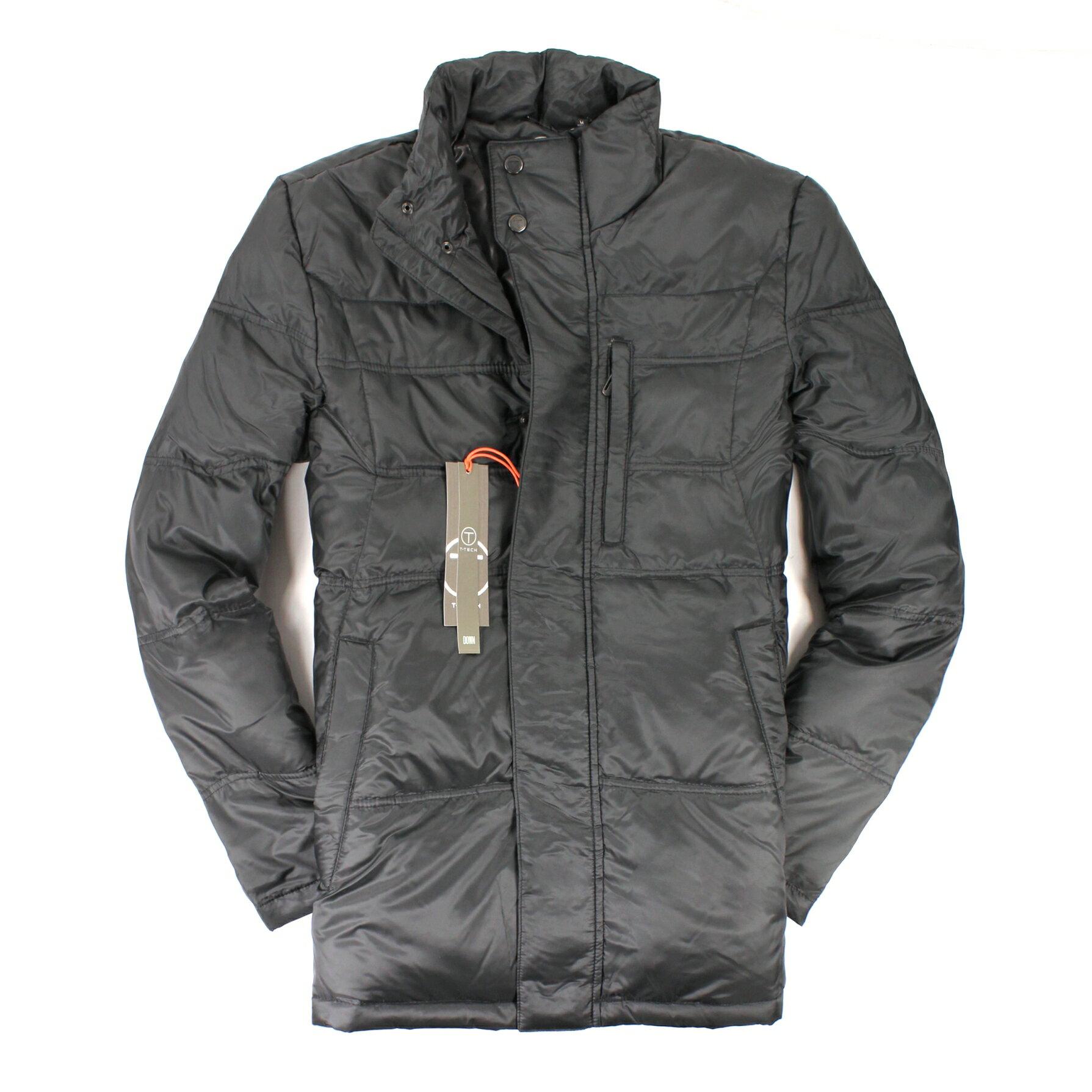美國百分百【全新真品】TUMI 外套 羽絨外套 夾克 T-TECH 黑色 防風 立領 輕巧 保暖 男 M號