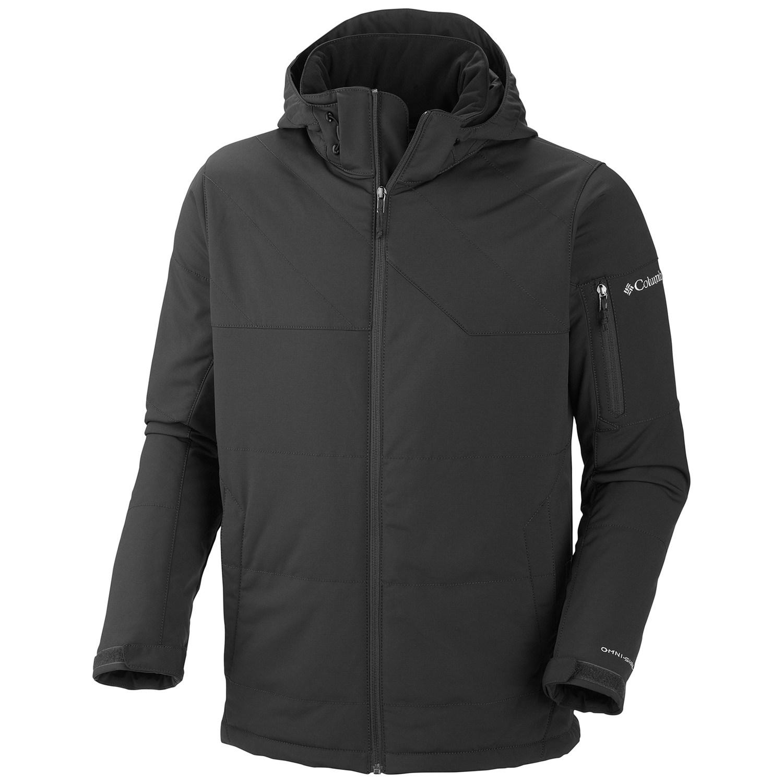 美國百分百【全新真品】Columbia 外套 連帽外套 夾克 哥倫比亞 黑 防汙 防水 軟殼 透氣 男衣 M號