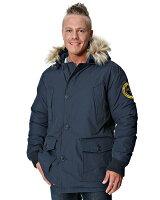 Superdry極度乾燥-男外套推薦到美國百分百【全新真品】Superdry 外套 連帽外套 羽絨 夾克 極度乾燥 毛毛帽 大尺 限量 刺繡 藍灰 男 XL號就在美國百分百推薦Superdry極度乾燥-男外套