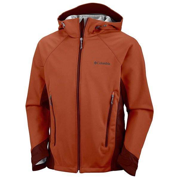 美國百分百【全新真品】Columbia 外套 哥倫比亞 夾克 軟殼 發熱衣 防水 防風 保暖 橘色 男衣 M號 B784