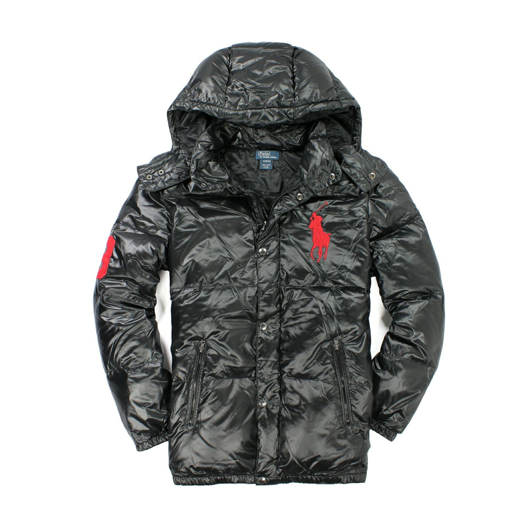 美國百分百【全新真品】Ralph Lauren 外套 RL 連帽外套 夾克 羽絨外套 Polo 大馬 輕巧 黑 S號 E028
