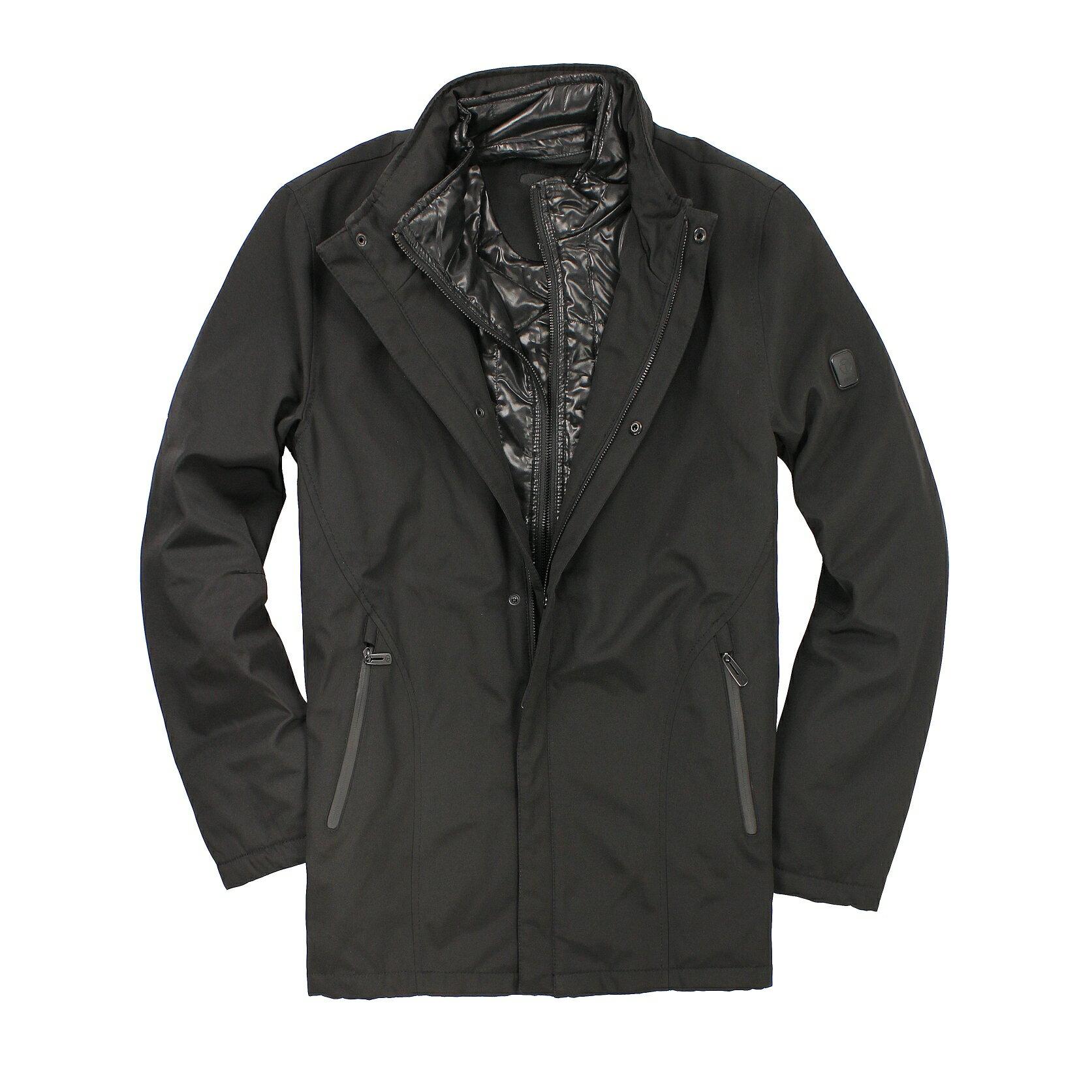 美國百分百【全新真品】TUMI 外套 連帽外套 夾克 黑 T-tech 防風 防水 透氣 保暖 鋪棉 男 M L C061
