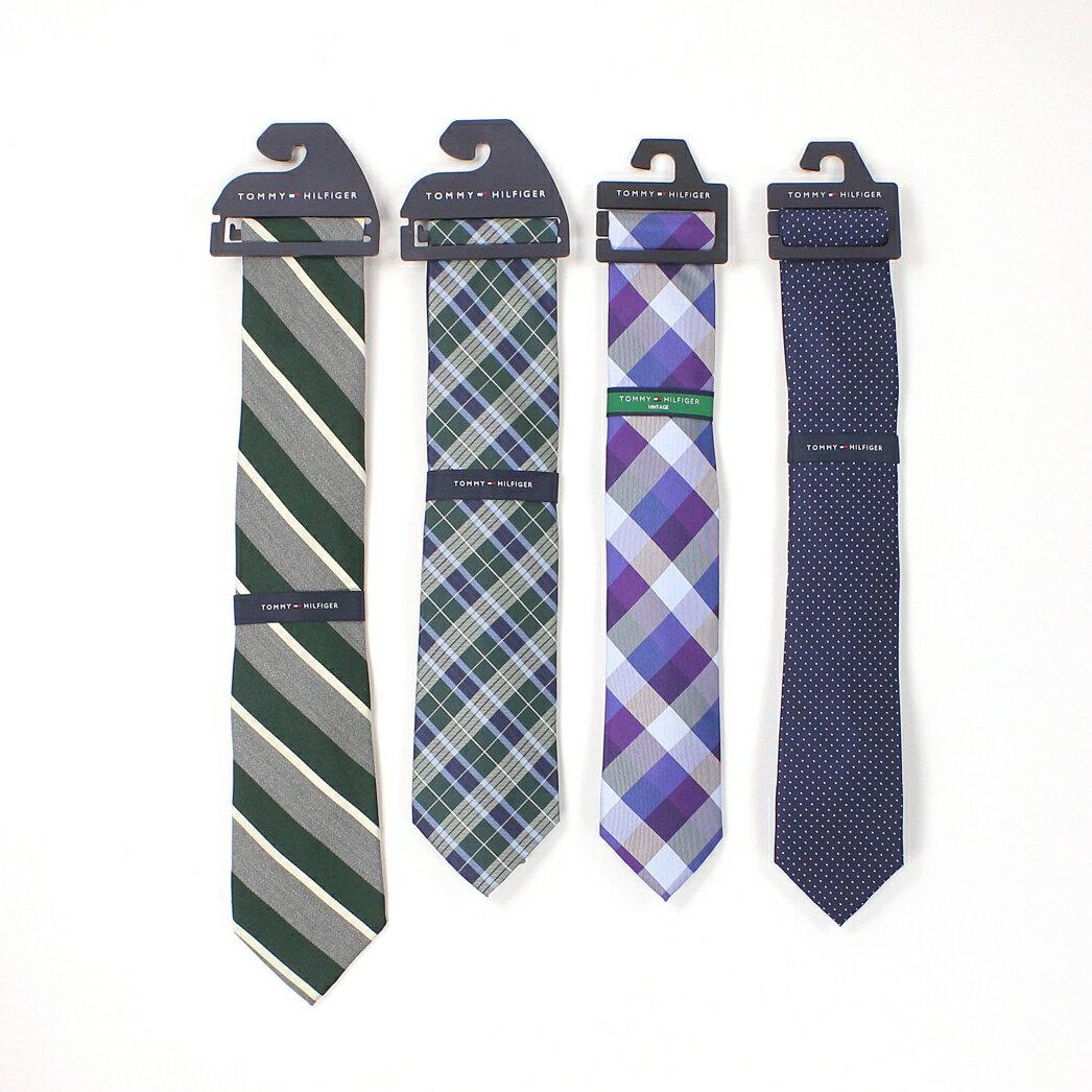 美國百分百【全新真品】Tommy Hilfiger 領帶 TH 配件 格紋 綠 紫 藍 圓點 蠶絲 絲綢 男 限量 高質感