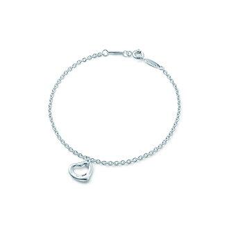 美國百分百【全新真品】Tiffany & Co. 手鍊 手環 鏤空 愛心 純銀 Open Heart 蒂芬妮 專櫃 免運