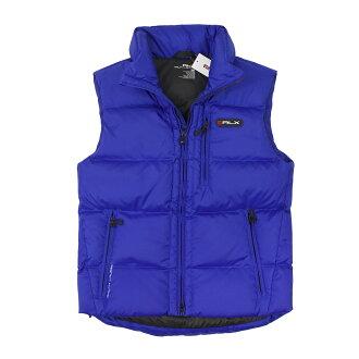 美國百分百【全新真品】Ralph Lauren 外套 RL 背心 羽絨 連帽 上衣 Polo 寶藍 防風 男衣 M號 C094