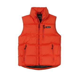 美國百分百【全新真品】Ralph Lauren 外套 RL 背心 羽絨 連帽 上衣 Polo 橘色 防風 男衣 M號 C094