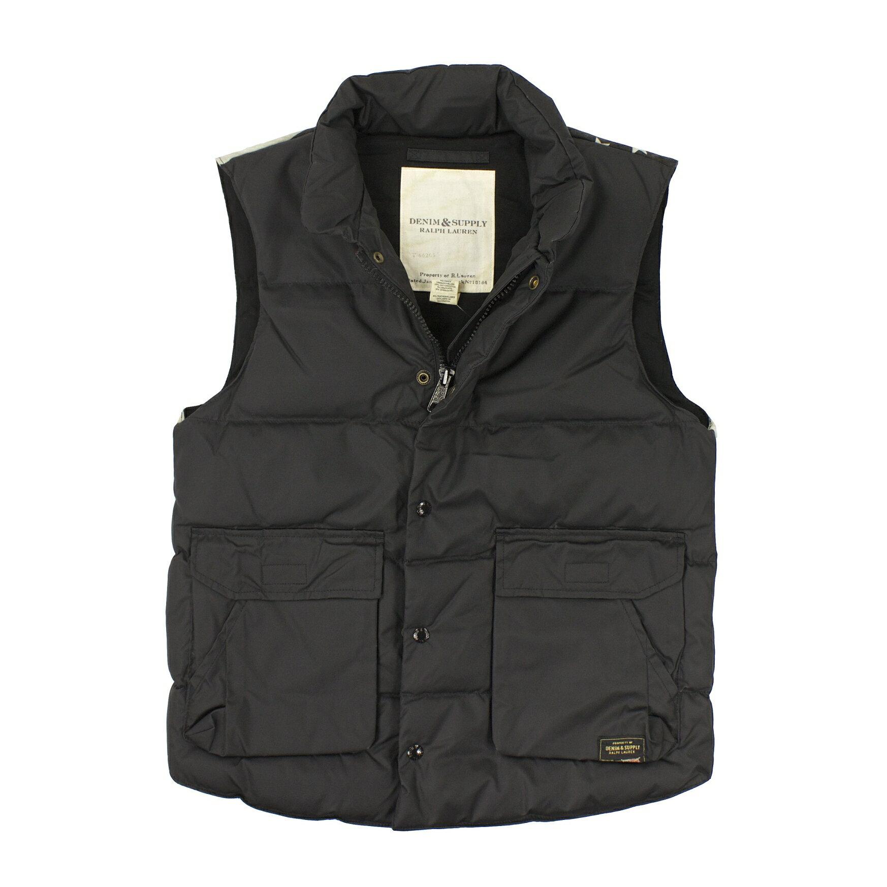 美國百分百【全新真品】Ralph Lauren 外套 RL 背心 羽絨 上衣 Polo 黑 星星 美國隊長 男 S號 A821