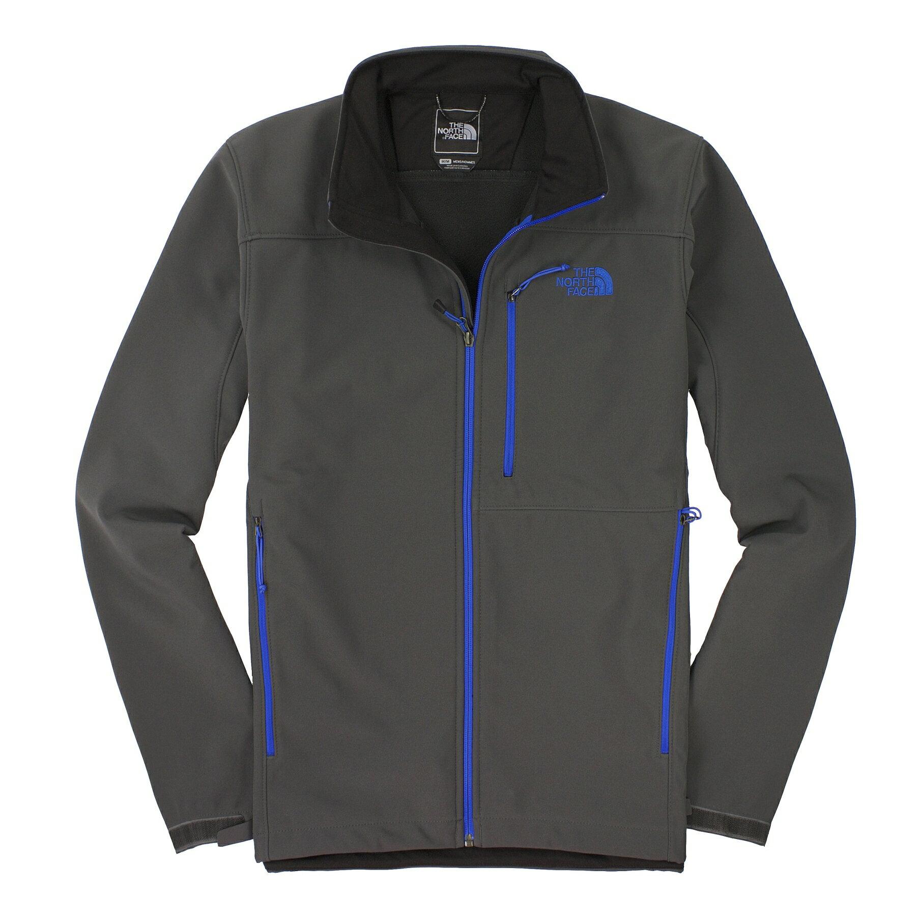 美國百分百【全新真品】The North Face 外套 TNF 夾克 軟殼 北臉 灰 透氣 防風 防水 男衣 M號 C183