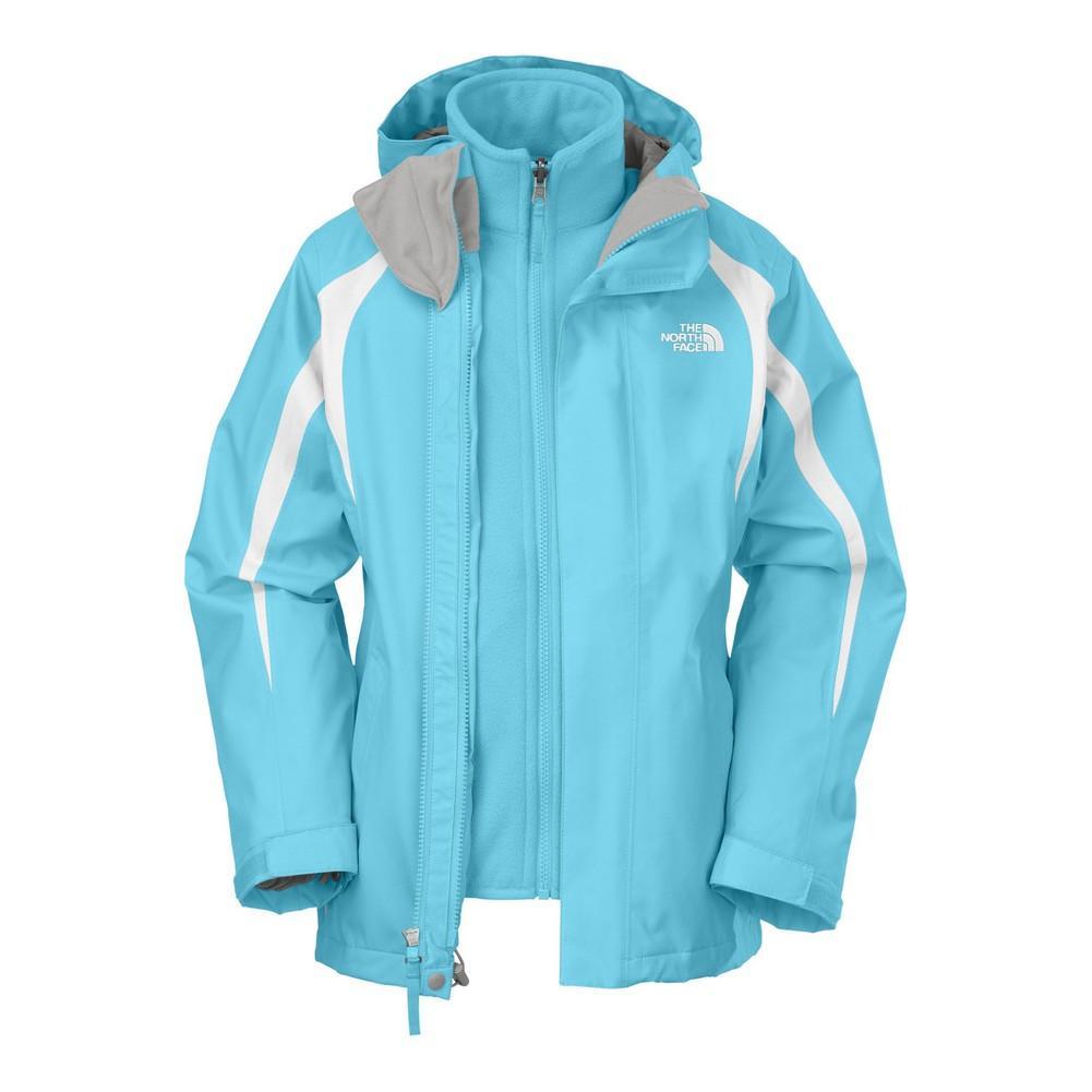 美國百分百【全新真品】The North Face 外套 TNF 夾克 連帽 北臉 天藍 兩件式 Hyvent 中空纖維 女 S C102
