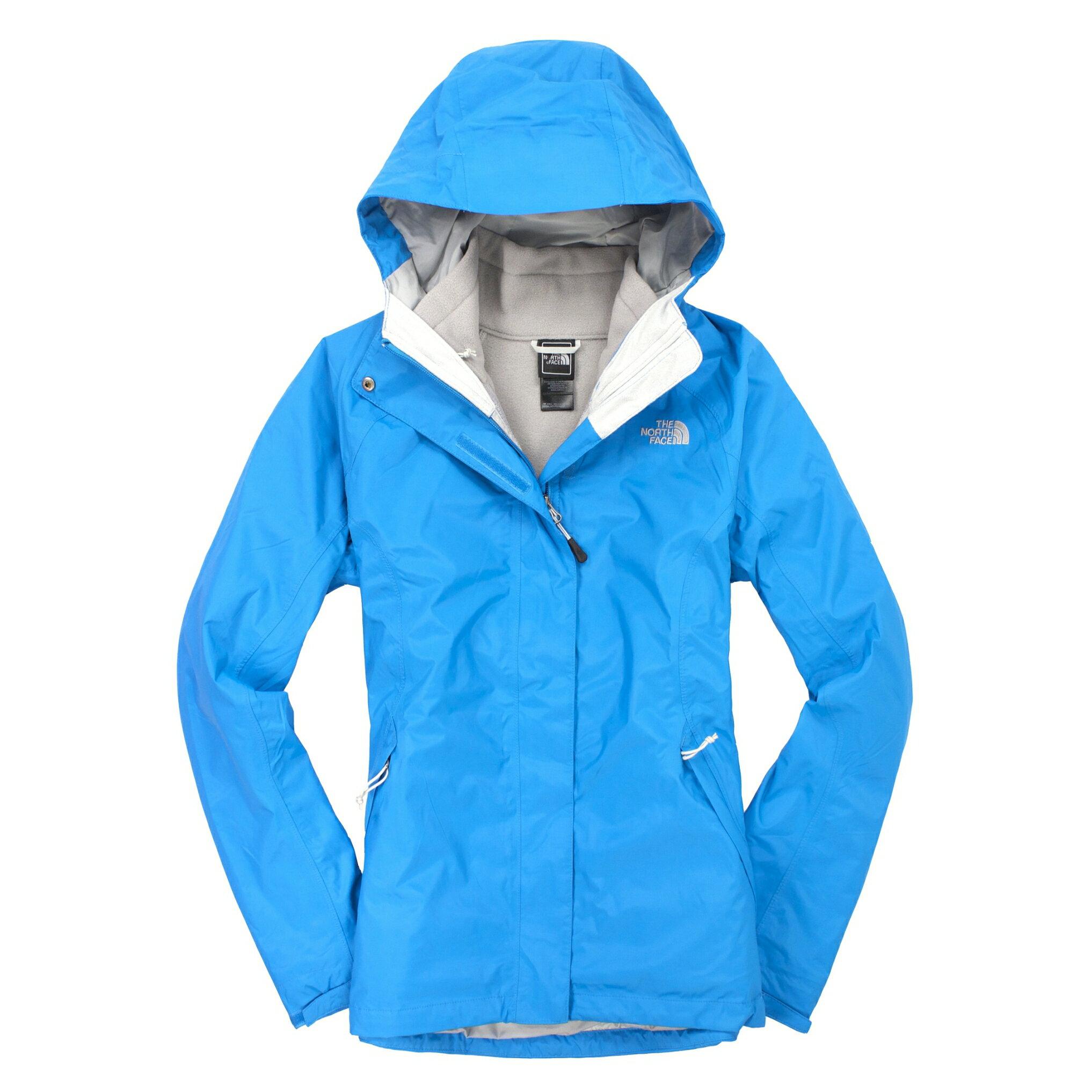 美國百分百【全新真品】The North Face 外套 TNF 夾克 連帽 北臉 天藍 兩件式 Hyvent 刷毛 女 S A829