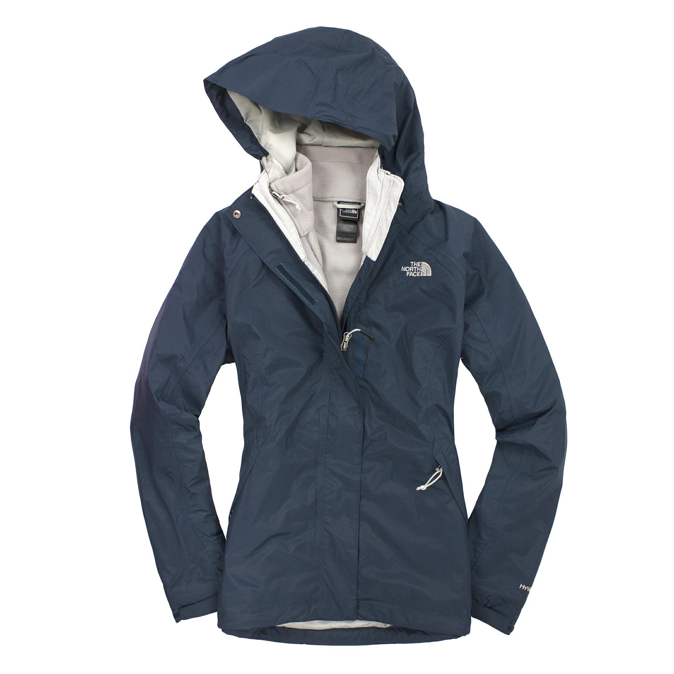 美國百分百【全新真品】The North Face 外套 TNF 夾克 連帽 北臉 深藍 兩件式 Hyvent 女衣 S號 A829