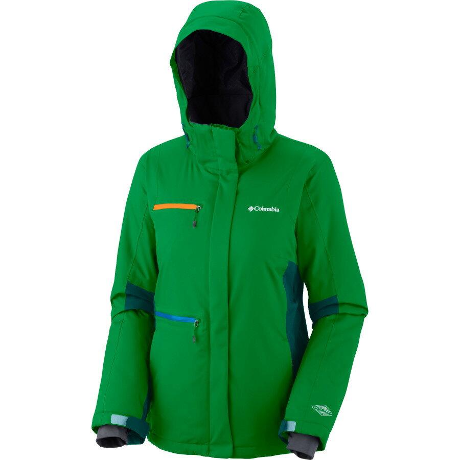 美國百分百【全新真品】Columbia 外套 哥倫比亞 夾克 連帽 綠 發熱衣 omni 耳機 MP3 女 XS號 A834