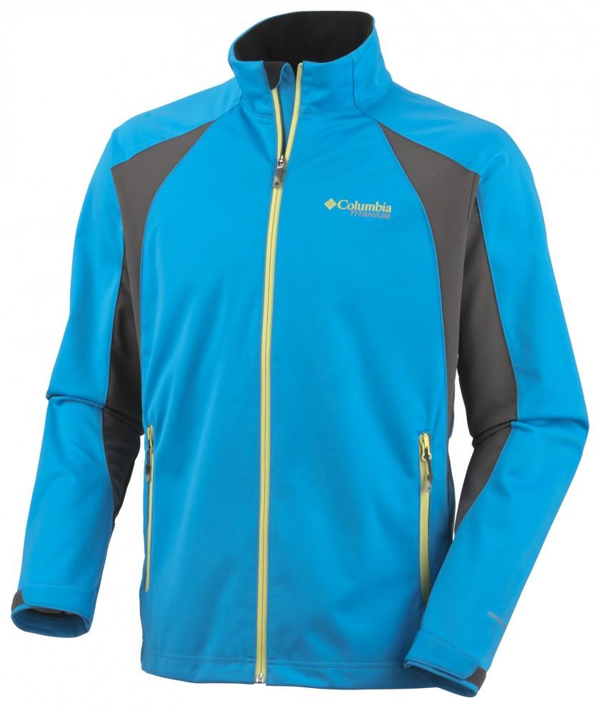 美國百分百【全新真品】Columbia 外套 哥倫比亞 夾克 軟殼 天藍灰 發熱衣 薄 titanium 男衣 L號 A836
