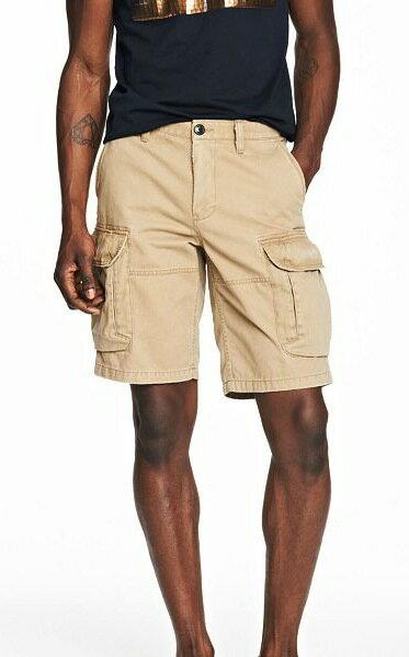美國百分百【全新真品】Armani Exchange 褲子 AX 短褲 休閒 工作 亞曼尼 卡其 雙口袋 男 31 33 A838