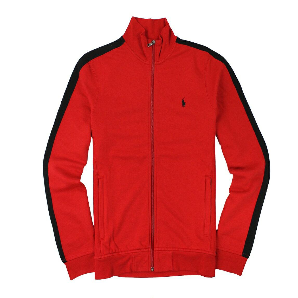 美國百分百【全新真品】Ralph Lauren 外套 RL 夾克 立領 Polo 小馬 紅色 立領 棉質 男衣 M號 A867