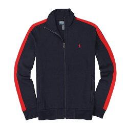 美國百分百【全新真品】Ralph Lauren 外套 RL 夾克 立領 Polo 小馬 深藍 立領 棉質 男衣 M L XL號 A867