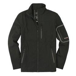 美國百分百【全新真品】Emanuel Ungaro 外套 夾克 軟殼 黑 硬挺 防風 防水 男衣 S M號 A876