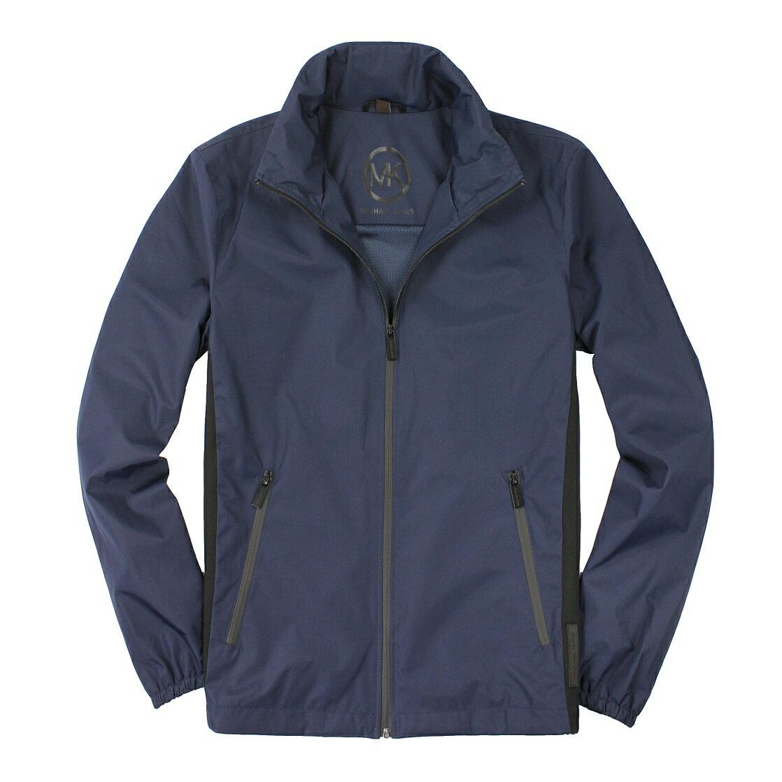 美國百分百【全新真品】Michael Kors 外套 MK 夾克 連帽外套 風衣 深藍 防水 Logo 男款 M號 A877