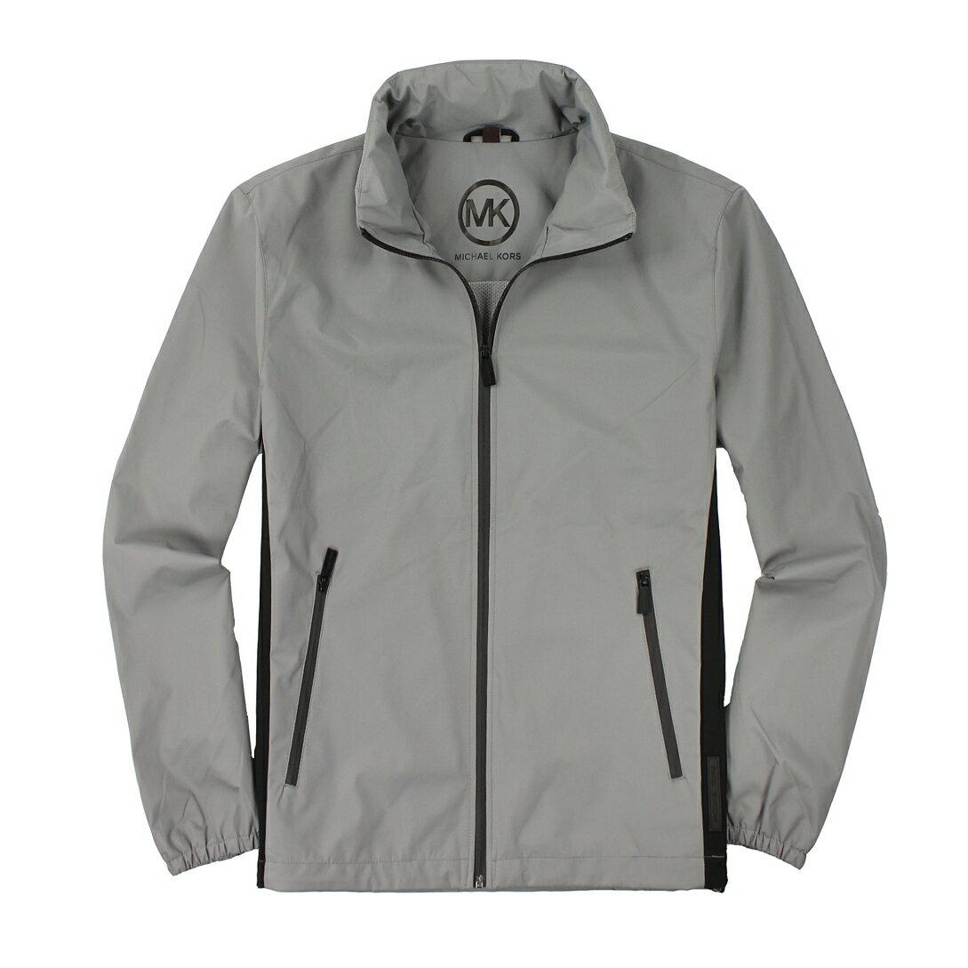 美國百分百【全新真品】Michael Kors 外套 MK 夾克 連帽外套 風衣 灰 防水 Logo 男 M號 A877