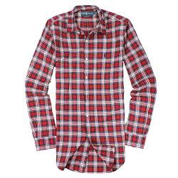 美國百分百【全新真品】Ralph Lauren 襯衫 RL 長袖 上衣 Polo 小馬 紅藍 類牛津 格紋 男 M號 E044
