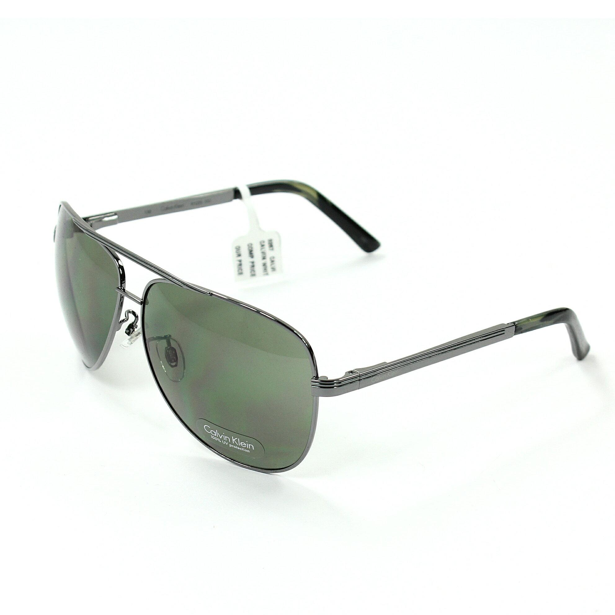 美國百分百【全新真品】Calvin Klein 眼鏡 CK 太陽眼鏡 墨鏡 藍綠 飛行 玳瑁 抗UV 男 女 E089