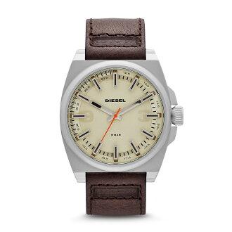 美國百分百【全新真品】Diesel 手錶 配件 腕表 專櫃 真皮 深咖啡 盒子 日本機蕊 說明書 經典 男 女
