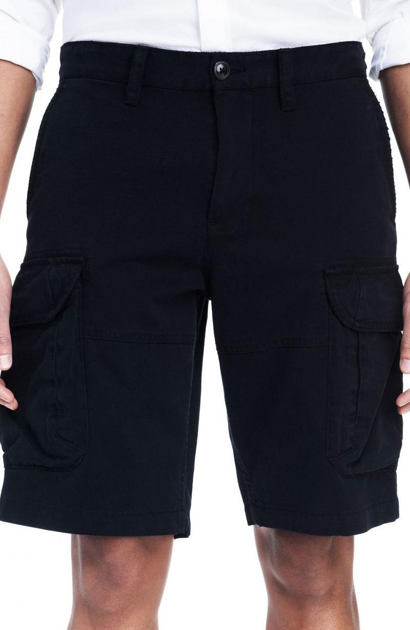 美國百分百【全新真品】Armani Exchange 褲子 AX 短褲 五分 亞曼尼 黑 零錢 口袋 男 30 A838