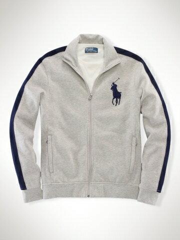美國百分百【全新真品】Ralph Lauren 外套 RL 長袖 上衣 夾克 POLO 大馬 立領 灰色 M XXL號 C215