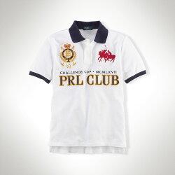 美國百分百【全新真品】Ralph Lauren Polo衫 RL 短袖 上衣 POLO 群馬 徽章 純棉 白 XS S號 C213