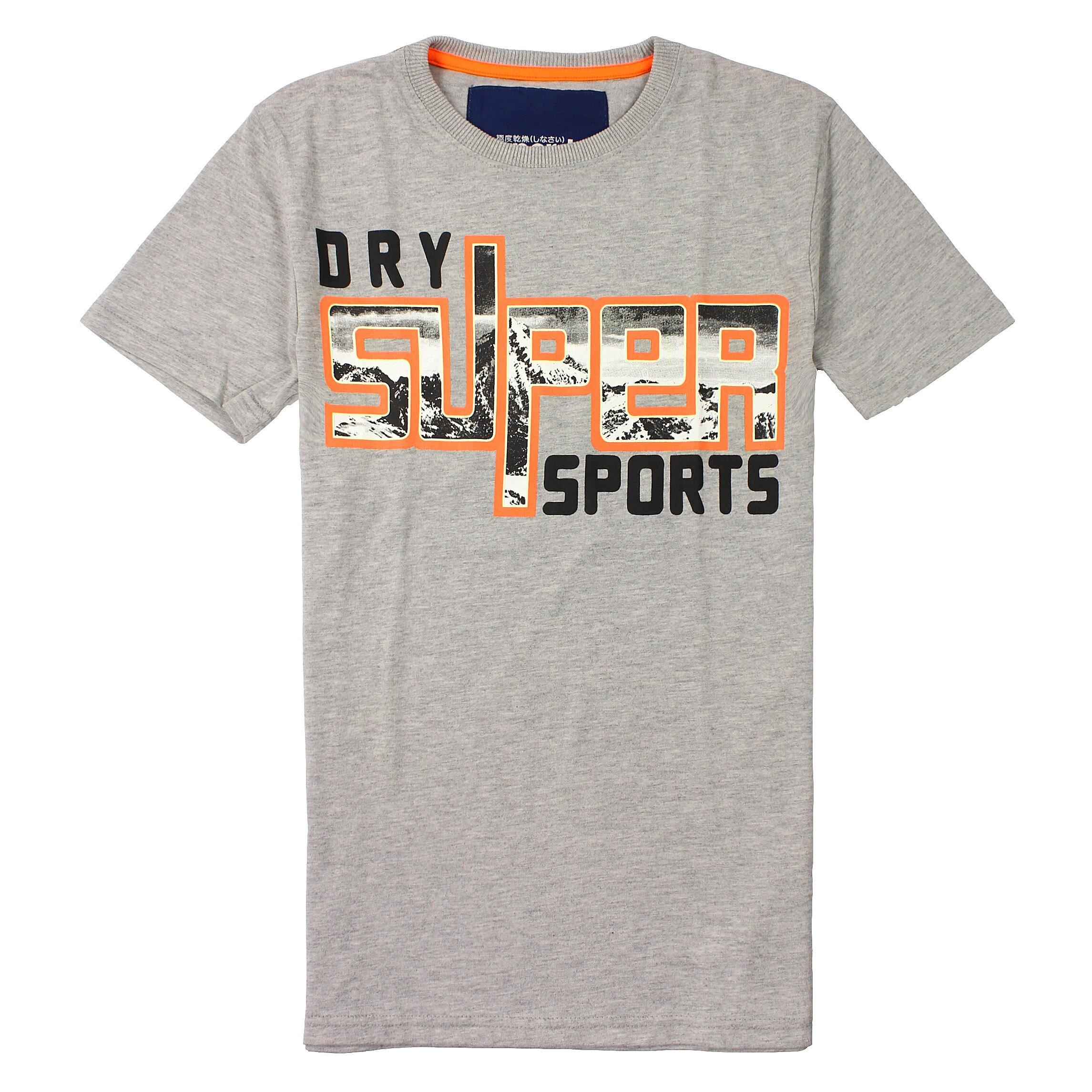 美國百分百~ ~Superdry T恤 短袖 上衣 T~shirt 灰色 短tee 極度乾