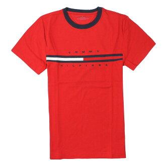 美國百分百【全新真品】Tommy Hilfiger T恤 TH 短袖 T-shirt 上衣 Logo 素面 純棉 紅 男 XS號 A794