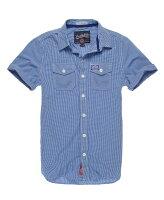 Superdry極度乾燥-男襯衫推薦到美國百分百【全新真品】Superdry 襯衫 短袖 上衣 格紋 深藍 雙口袋 極度乾燥 純棉 男 XXXL號 C369就在美國百分百推薦Superdry極度乾燥-男襯衫