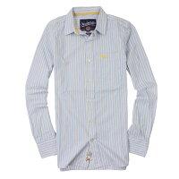 Superdry極度乾燥-男襯衫推薦到美國百分百【全新真品】Superdry 襯衫 長袖 上衣 條紋 口袋 藍 極度乾燥 純棉 男 S號就在美國百分百推薦Superdry極度乾燥-男襯衫
