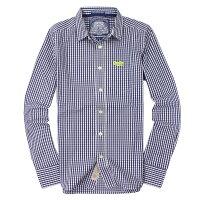 極度乾燥商品推薦到美國百分百【全新真品】Superdry 襯衫 長袖 上衣 格紋 口袋 藍 極度乾燥 純棉 男 S M L XXL號就在美國百分百推薦極度乾燥商品