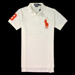 美國百分百【全新真品】Ralph Lauren Polo衫 RL 上衣 短袖 Polo 大馬 白色 網眼 素面 男 XS號 E085