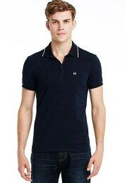 美國百分百Armani Polo 短袖 上衣 深藍 亞曼尼 棉質 Logo C278