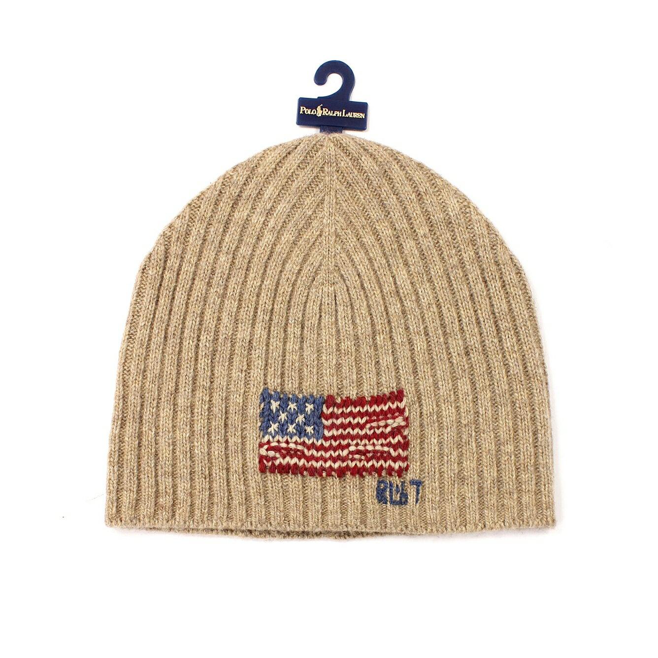 美國百分百~ ~Ralph Lauren 帽子 RL 毛線帽 毛帽 針織 Polo 國旗