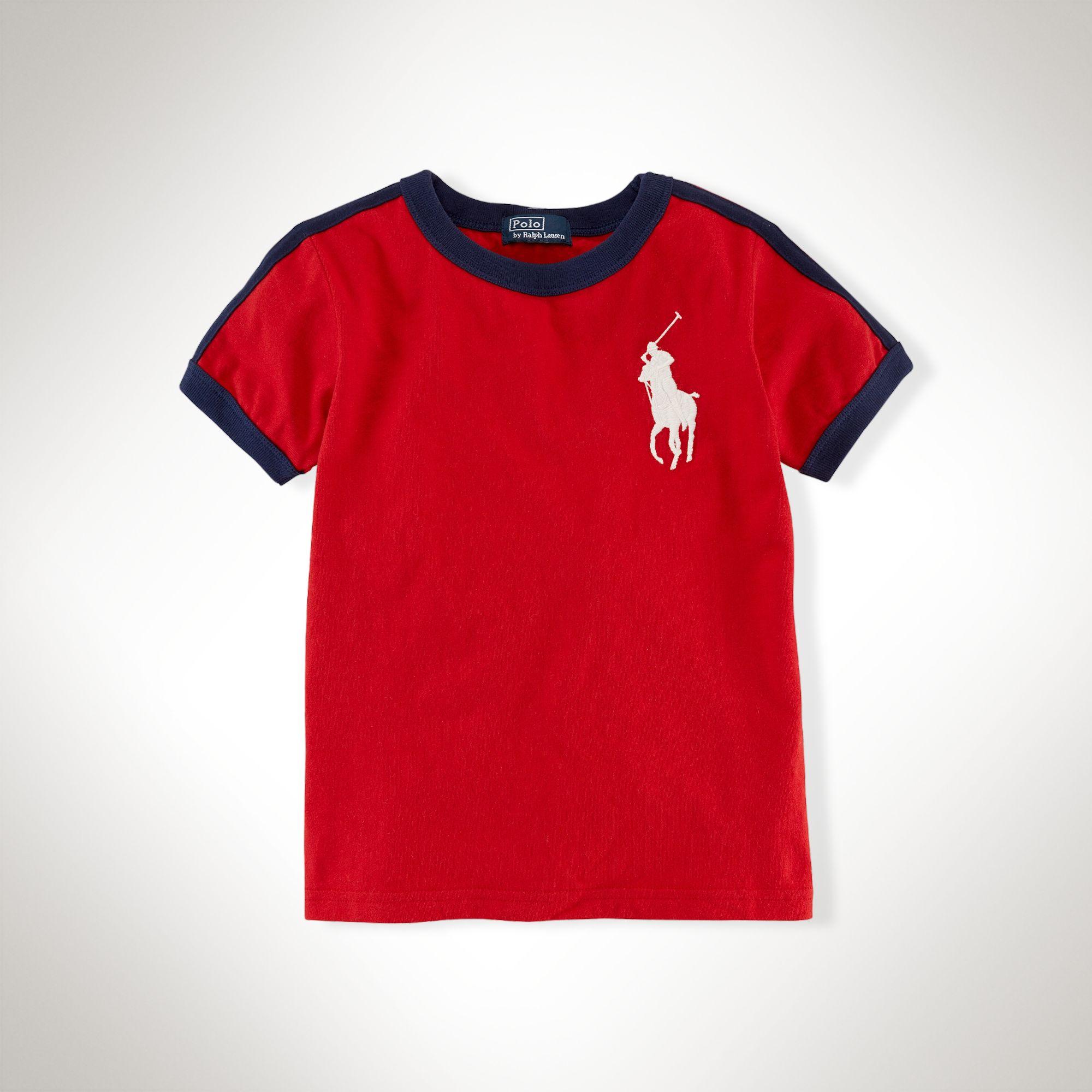 美國百分百【全新真品】Ralph Lauren T恤 男衣 RL 短袖 深紅 上衣 T-shirt Polo 大馬 XS S號 E101