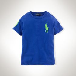 美國百分百【全新真品】Ralph Lauren T恤 男衣 RL 短袖 深藍 上衣 T-shirt Polo 大馬 XS S號 E102
