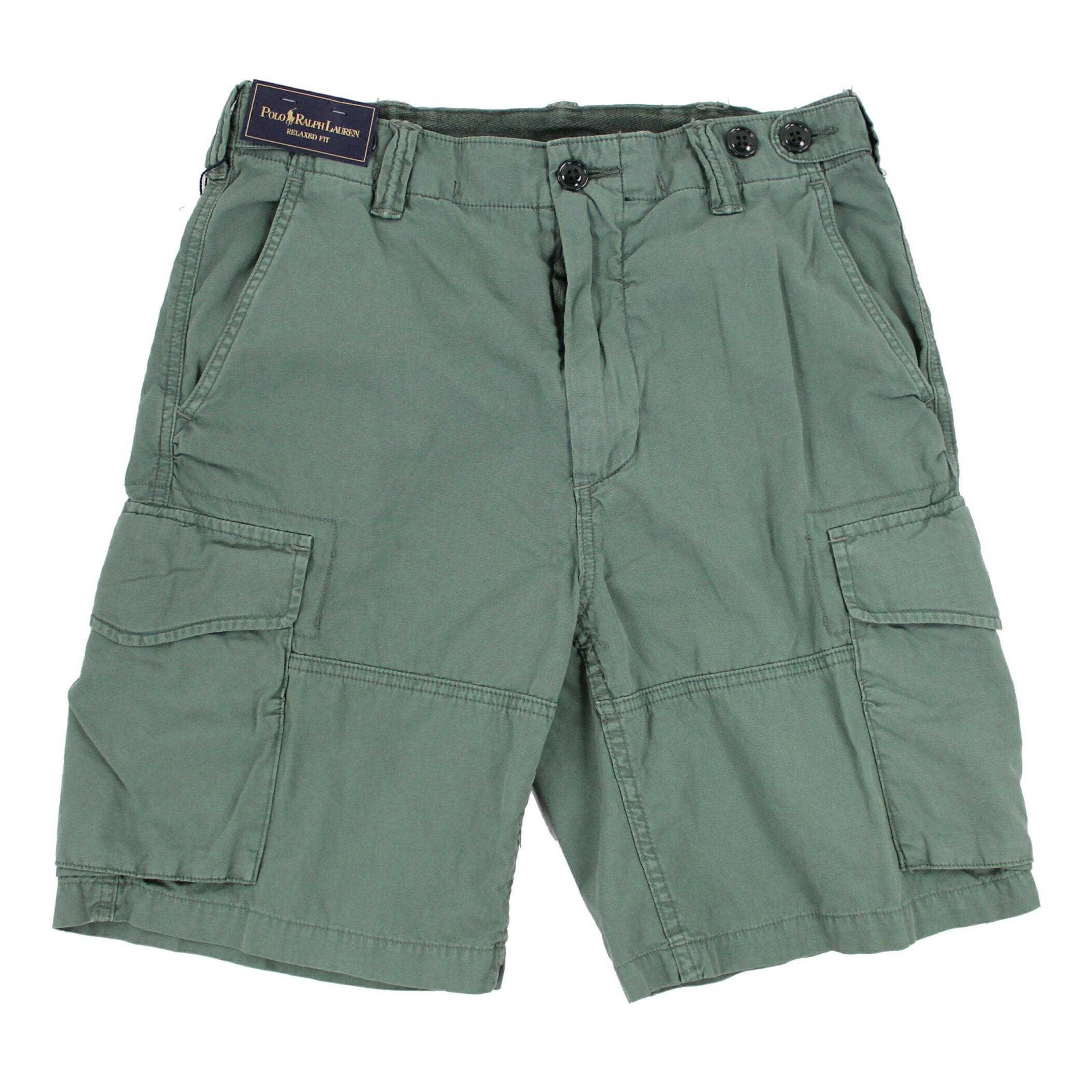 美國百分百【全新真品】Ralph Lauren 褲子 RL 男褲 POLO 短褲 工作褲 淺綠色 30腰 E111