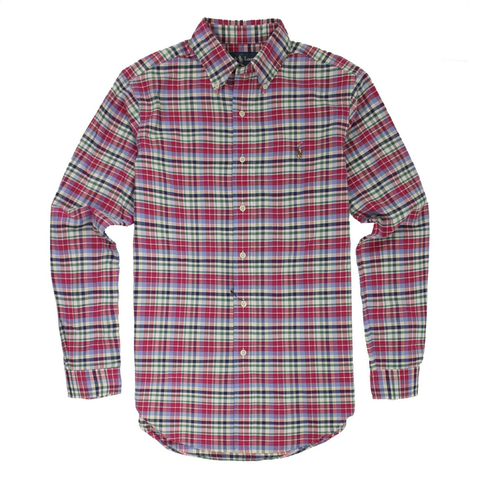 美國百分百【全新真品】Ralph Lauren 襯衫 RL 長袖 上衣 Polo 格紋 彩馬 S XXL號
