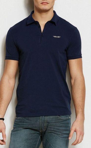 美國百分百【全新真品】Armani Exchange Polo衫 AX 短袖 上衣 亞曼尼 棉質 深藍 XS號 E153
