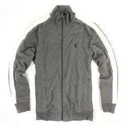 美國百分百【全新真品】Ralph Lauren 外套 RL 長袖 上衣 夾克 POLO 小馬 立領 灰色 L號 B536