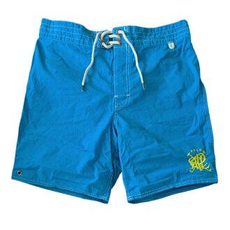 美國百分百【全新真品】Ralph Lauren RL 口袋 男 泳褲 海灘 衝浪褲 雙層 短褲 M號 藍色 E180