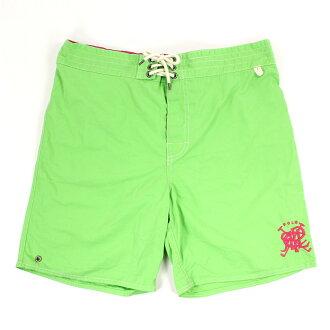 美國百分百【全新真品】Ralph Lauren RL 口袋 男 泳褲 海灘 衝浪褲 雙層 短褲 L號 綠色 E180