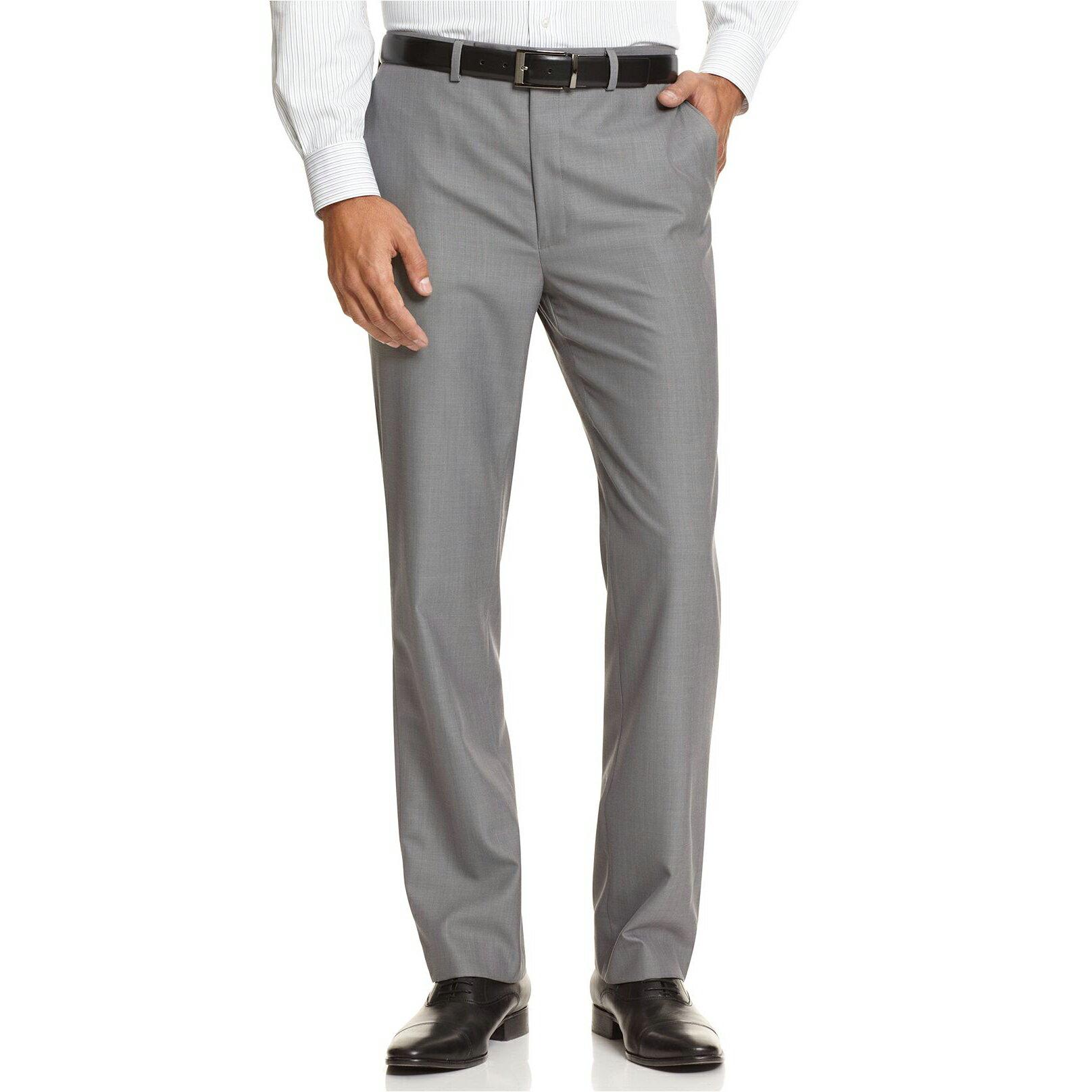 美國百分百【全新真品】Calvin Klein 長褲 西裝褲 合身 窄 休閒 上班 淺灰 30 32 33腰 E221
